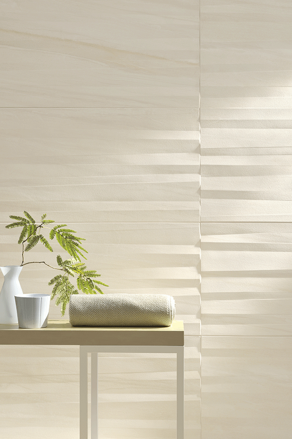 COSE Carrelage effet pierre White Sherman Wave 45x90